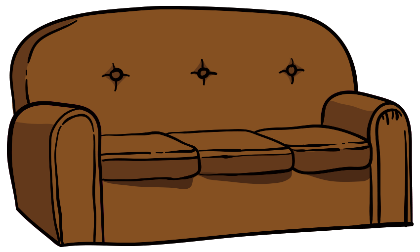 The Simpsons Sofa Leather Sectional Sofa